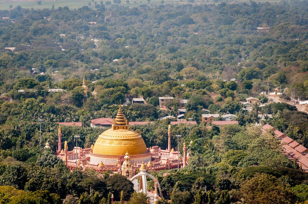 Widok z wzgórza Sagaing, Myanmar