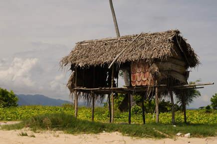 Domek na wysepce Sibuan