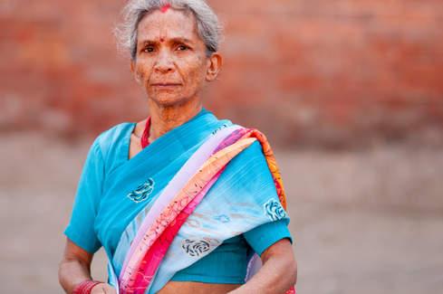 Kobieta w pięknym sari, Kathmandu