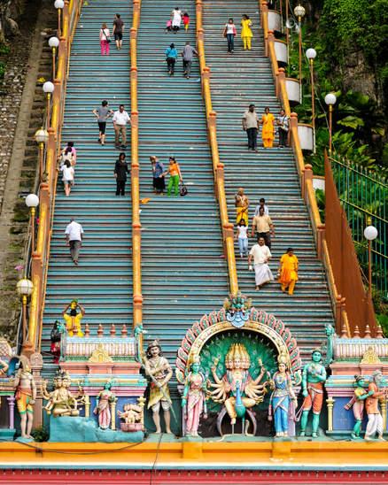 Schody do świątyni Batu Caves, KL