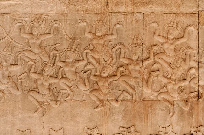 Apsary, Relief Ubijanie Morza Mleka, Angkor Wat