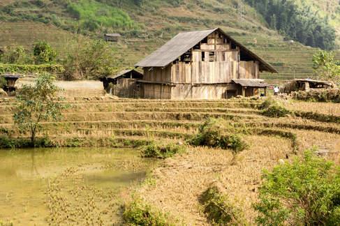 Wiejski dom w okolicy Sapa