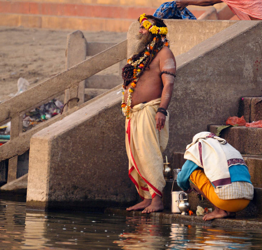 Sadhu nad Gangesem