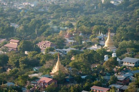 Widok z Mandalay Hill, Myanmar