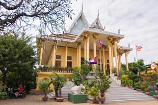 Świątynia Wat Ounalom w Phnom Penh, Kambodża