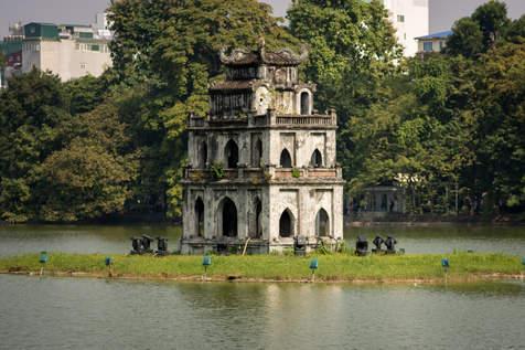 Żółwia Wieża, Hoan Kiem, Hanoi