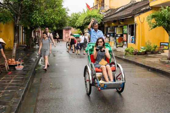 Rikszą w Hoi An