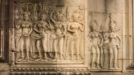 Apsary w Angkor Wat, Kambodża