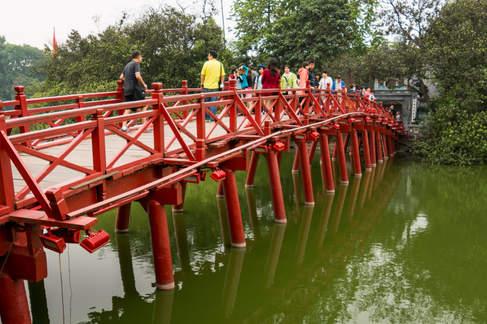 Czerwony Most, Jezioro Hoan Kiem, Hanoi
