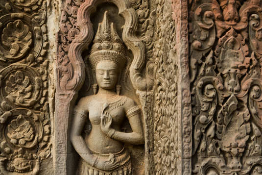 Apsara w świątyni Ta Prohm