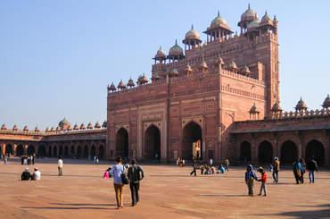Dziedziniec meczetu Jama Masjid, Fatehpur Sikri