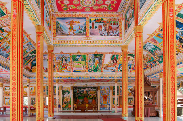 Świątynia w stolicy Laosu, Wientiane