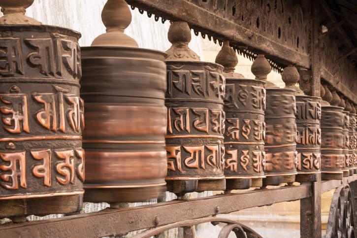 Młynki modlitewne, Świątynia Małp