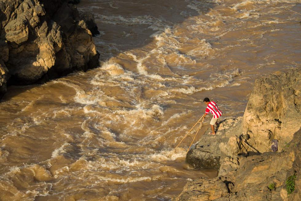 Wodospady Li Phi, Don Det, Laos