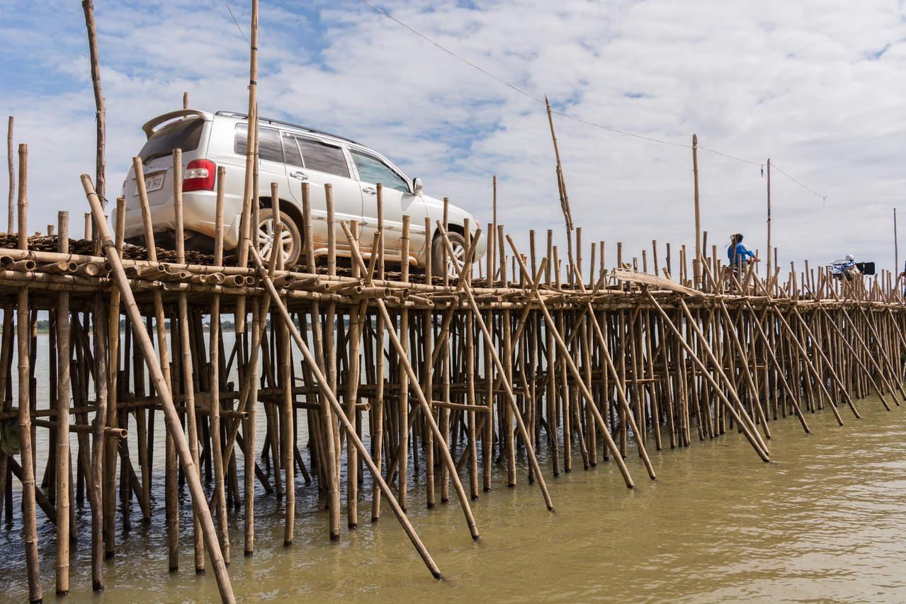 Bambusowy most, Kampong Cham