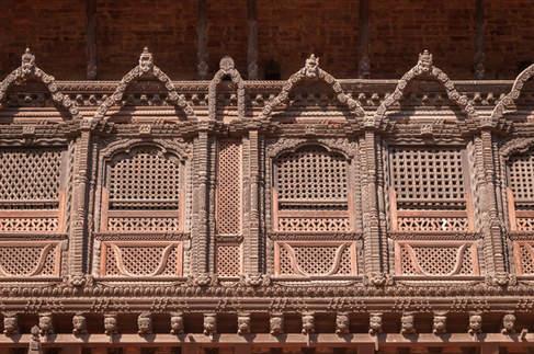 Ozdobne drewniane okna, Bhaktapur