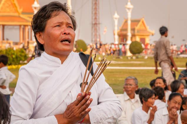 Żałoba po śmierci Króla, Phnom Penh, Kambodża
