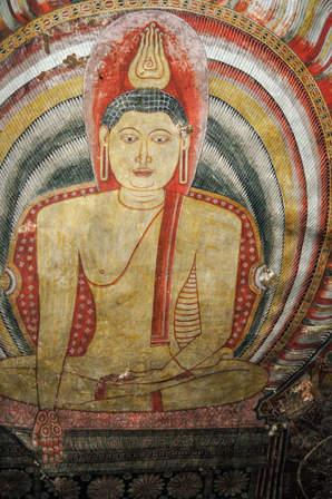 Freski w jaskini, Dambulla