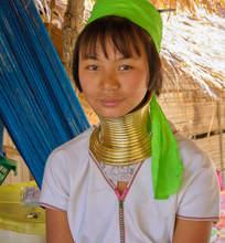Kobieta z plemienia Karen, Chiang Mai
