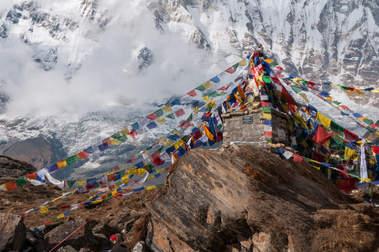 Modlitewne chorągiewki w himalajach