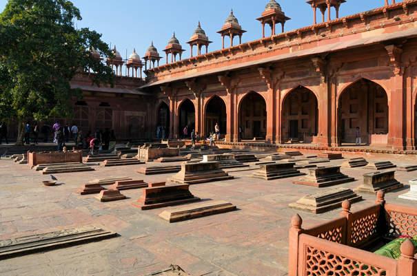Grobowce w  Jama Masjid, Fatehpur Sikri