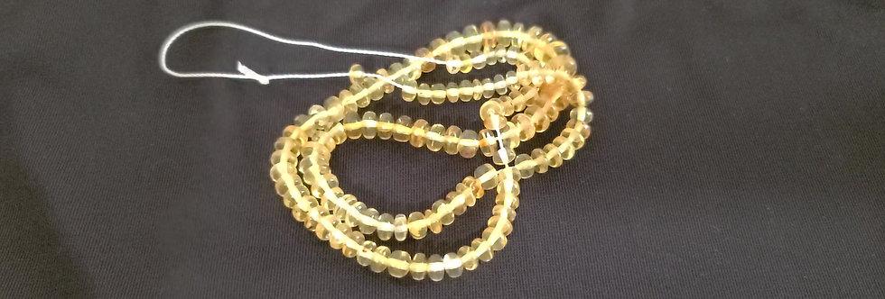 "BEAUTIFUL 18"" of PHOSPHORESCENT HANDMADE Amber Beads."