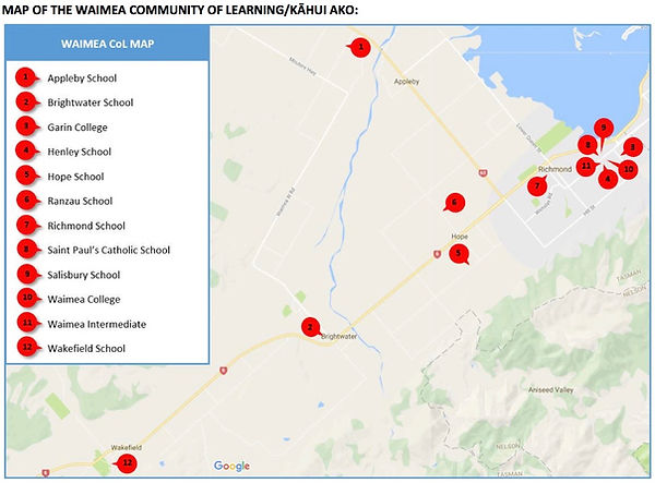 map of waimea community of learning