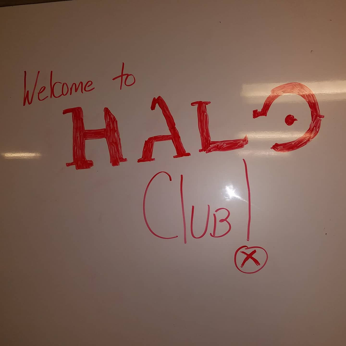 LAN Party Halo Club Whiteboard