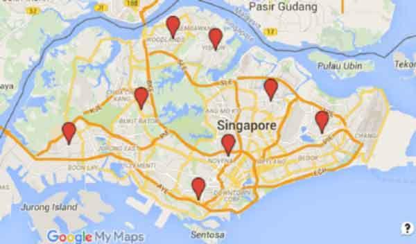 electrician singapore map