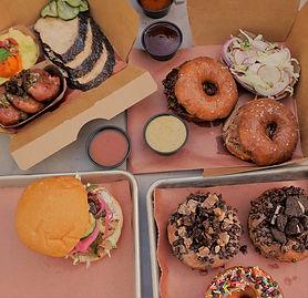 bbq barbecue donuts sandwich smoked turkey