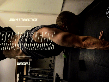 Bodyweight at home Workout Series 1