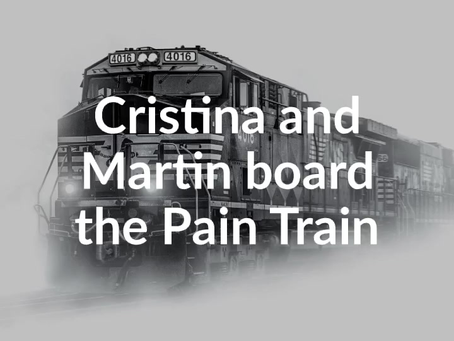 Cristina and Martin board the Pain Train