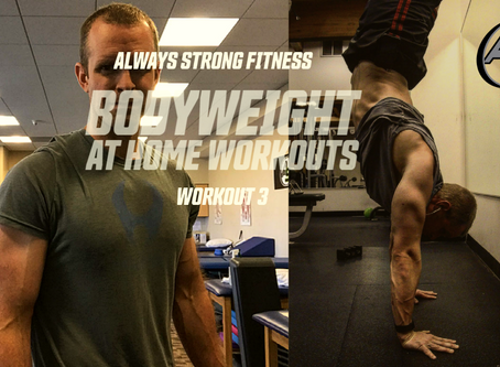 Bodyweight at Home Workout Series 3