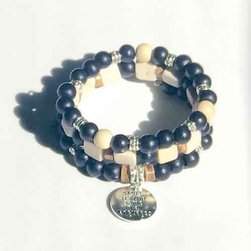 Black Taiwanese Bead Bracelet