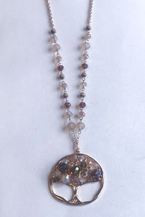 Family Tree Bead Necklace Set