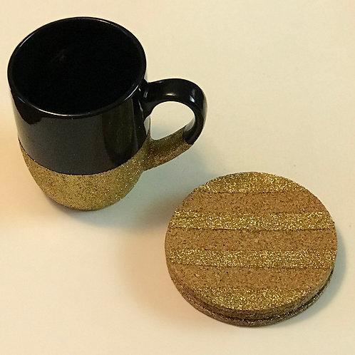 Black Glittered Mug Set