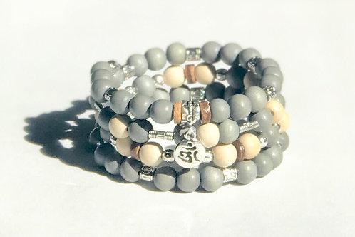 Gray Taiwanese Wood Bracelet