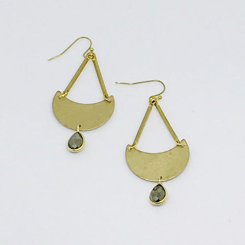Brass Pyrite Earrings