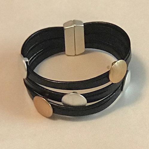 Black Two-Toned Circle Bracelet