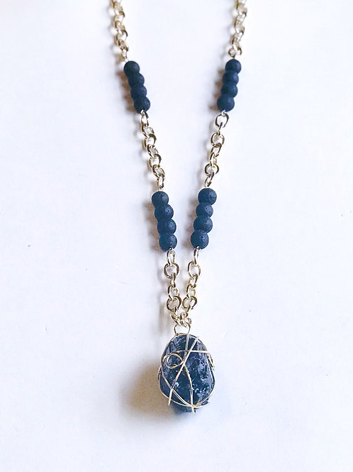 Druzy Wire Wrapped Necklace