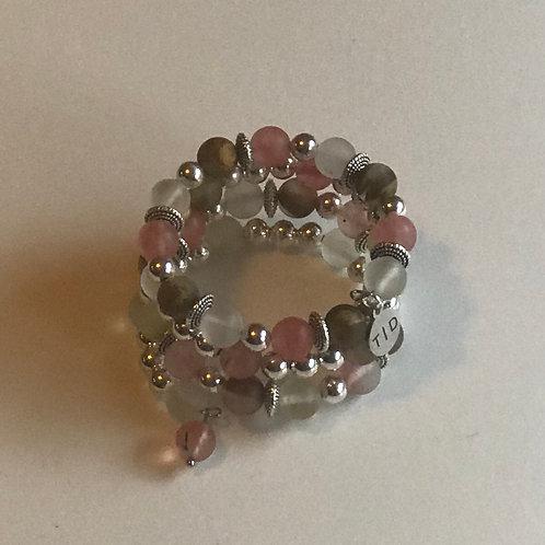 Matte Cherry Quartz Bracelet