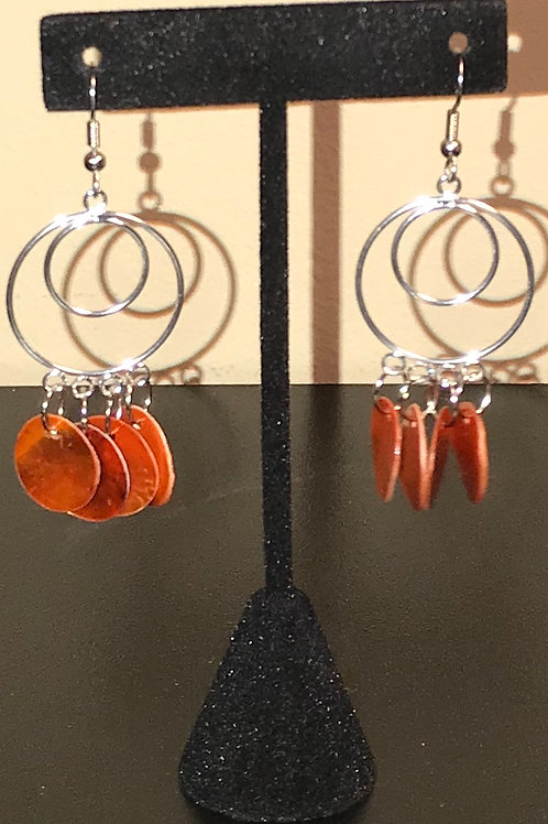 Circle Mussel Shell Earrings