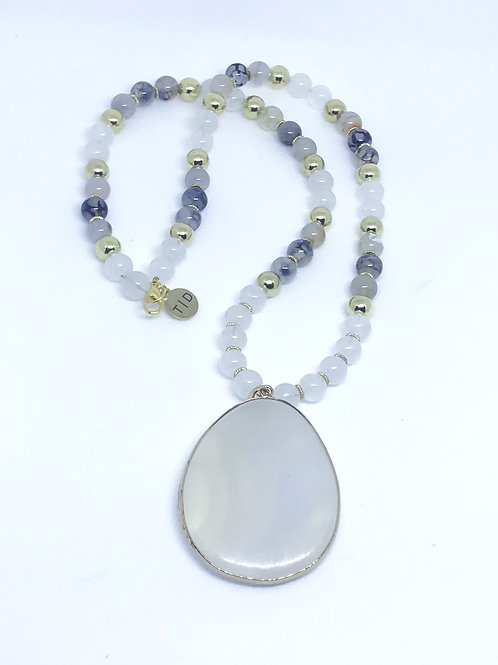 Cream Stone Necklace