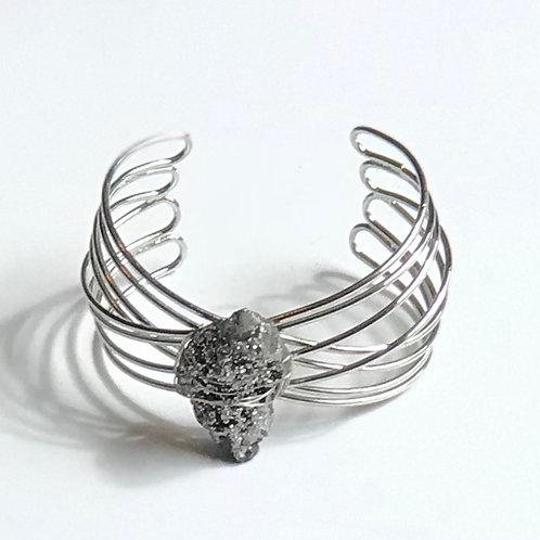 Wire Wrapped Stone Cuff