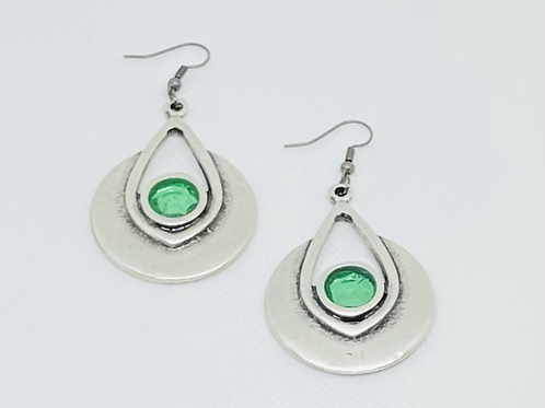 Green Resin Earrings