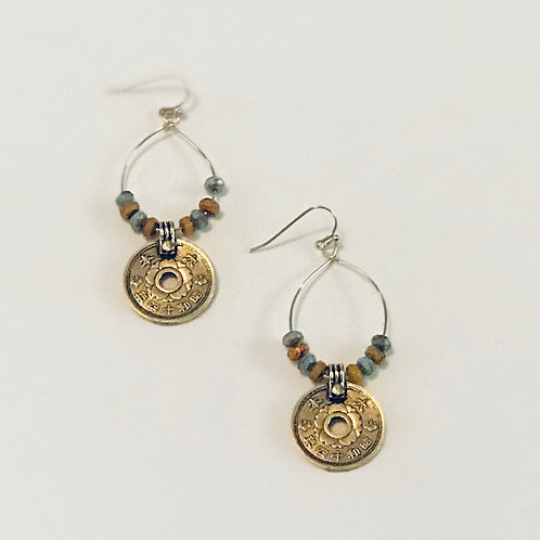 "Gold ""Coin"" Earrings"
