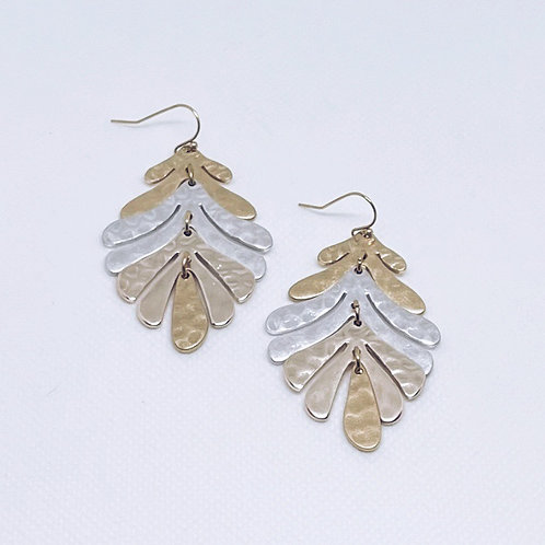 Two-Toned Lead Earrings