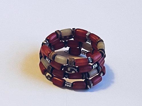 Coral Buri bead bracelet