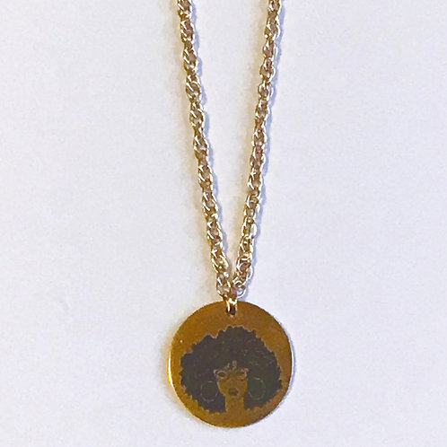 Afro Woman Cause Necklace