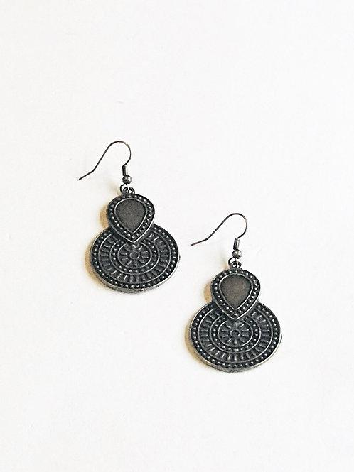 Bronze Two-Tiered Earrings